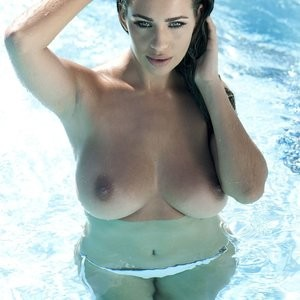Holly Peers Topless And Wet (3 Photos) - Leaked Nudes