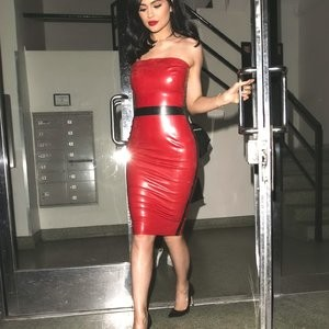 Kylie Jenner in a Red Latex Dress (42 Photos) – Leaked Nudes